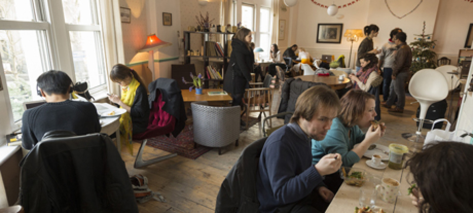 Cafe Ziferblat UK's first pay-as-you-go cafe, London, Britain –