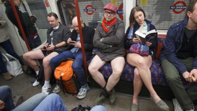 'No Pants Subway Ride Day', London, Britain – 12 Jan 2014