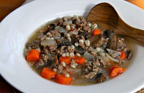 The suppers vary but it's common to kick off the meal with a Scotch broth. (SoupChick)