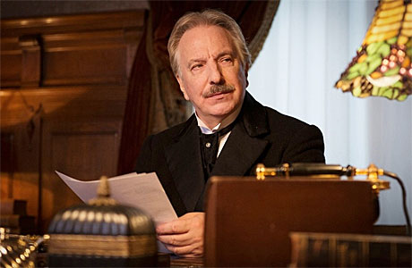 Alan Rickman pulls that face in 'A Promise'