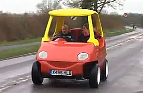 John Bitmead's Little Tykes car (pic: BBC News)