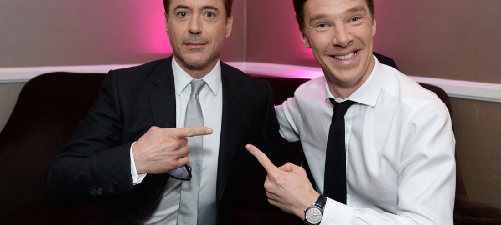 Robert Downey Junior and Benedict Cumberbatch