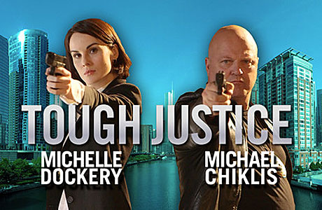 Michelle Dockery and Michael Chiklis in Tou...oh you can read it.