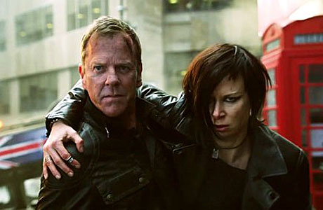 Keifer Sutherland and  Mary Lynn Rajskub in 24: Live Another Day