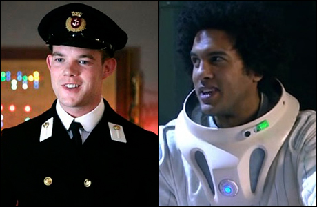 Russell Tovey and O.T. Fagbenle share a 'Doctor Who' history. (Photos via TARDIS Wikia)
