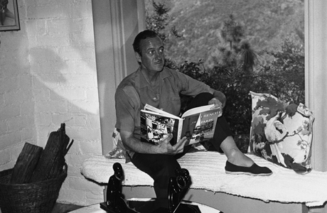 Actor David Niven sits in an arched window in the bar of his home in Pacific Palisades, Calif., March 23, 1959 and quietly passes the time with a book. Mountains form an interesting backdrop for his home. (AP Photo) 1958, Separate Tables