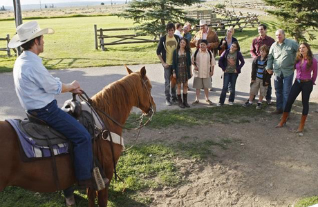 Modern family heads to a dude ranch in Jackson, WY. (ABC)