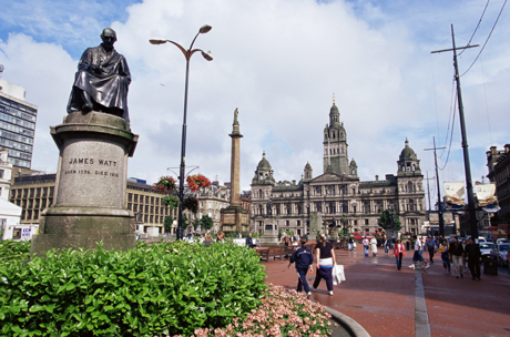 Town Hall, George Square, Glasgow, Scotland. (Yadid Levy/Robert Harding /AP Images)