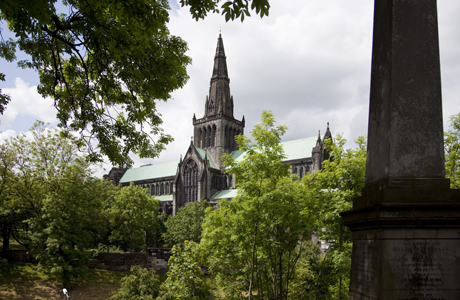 St. Mungo's Cathedral from southeast, Glasgow, Scotland. Photo by: Nick Servian/Robert Harding /AP Images