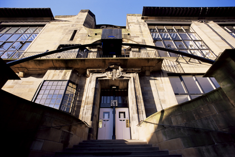 Glasgow School of Art, designed by Charles Rennie Mackintosh, Glasgow, Scotland. (Adam Woolfitt/Robert Harding /AP Images)