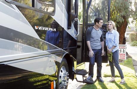 FOX's Modern Family hits the road in an RV. (FOX)