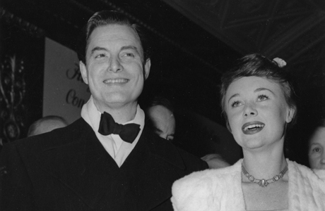 "British actress Glynis Johns, 24, and actor Robert Donat arrive at the Carlton Theater in London, England, November 13, 1947, for the premiere of Sir Alexander Korda's film version of Oscar Wilde's ""An Ideal Husband"". Glynis Johns appears in the film.  (AP Photo) 1938, Citadel"