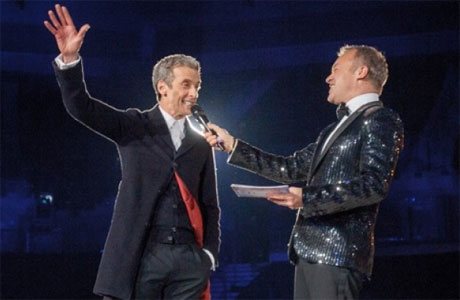 Peter Capaldi and Graham Norton