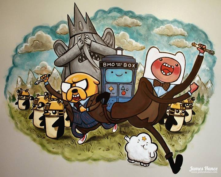 Adventure Time meets Doctor Who - genius! (James Hance)