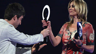 Noel Gallagher and Kate Moss, the Brit Awards