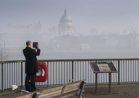 Heavy Fog over the River Thames Fog in London, Britain - 13 Mar 2014  (Rex Features via AP Images)