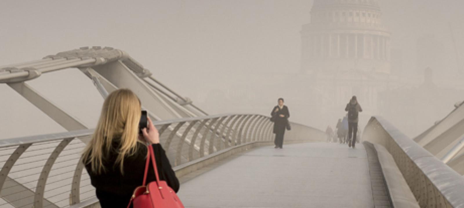 Fog in London, Britain – 13 Mar 2014