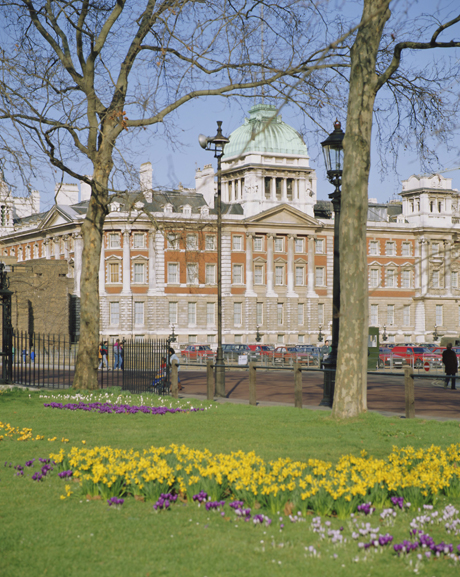 Horse Guards and the Old Admiralty building in spring, London. ( Robert Harding Productions /AP Images)