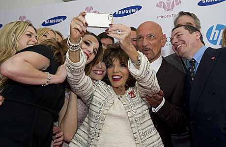 Joan Collins and friends (Rex Features via AP Images)