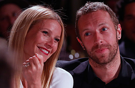 Chris Martin and Gwyneth Paltrow in January (Photo by Colin Young-Wolff /Invision/AP)