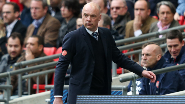 April 12, 2014 - London, United Kingdom - Wigan manager Uwe Rosler - Wigan v Arsenal - 2014 FA Cup Semi-Final - Wembley Stadium - London - 12th April 2014 - Pic Charlie Forgham-Bailey/Sportimage. (Cal Sport Media via AP Images)
