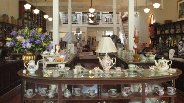 Laura's Tea Room has a gift shop downstairs. (Laura's Team Room)