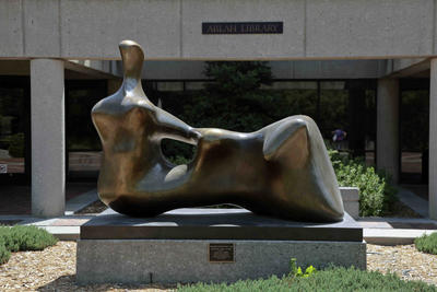 Henry Moore's Reclining Figure (Hand) is located in Wichita.