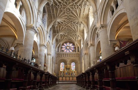 Christ Church Cathedral interior, Oxford University, Oxford, Oxf ... (Photo by: Peter Barritt/Robert Harding /AP Images)