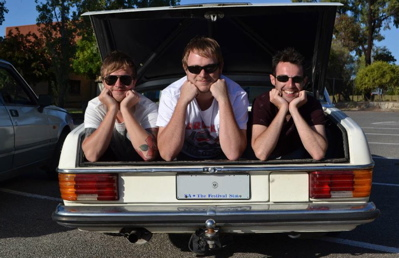 Australian 'bucks' party takes 'Top Gear' inspiration on the road. (Victor Harbor Times)