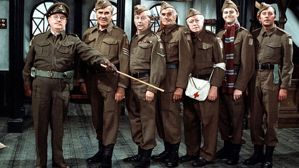 The original cast of 'Dad's Army' - Arthur Lowe and John Le Mesurier from left.