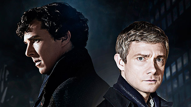 Benedict Cumberbatch and Martin Freeman in 'Sherlock' (Pic: PBS)