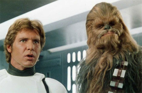 Harrison Ford and Peter Mayhew in 'Star Wars' (Pic: Lucasfilm)