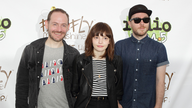 Iain Cook, from left, Lauren Mayberry and Martin Doherty of the band Chvrches. (Photo: Owen Sweeney/Invision/AP)