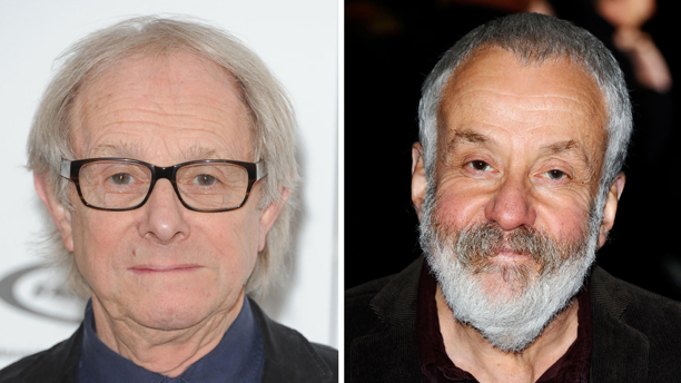 The titans of British cinema, Ken Loach and Mike Leigh, battle it out at Cannes in 2014. (Photo: Press Association via AP)