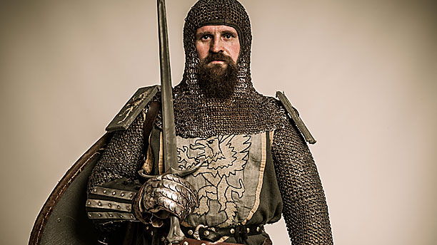 A medieval knight in his armour, sorry, armor. (Pic: AP Images)