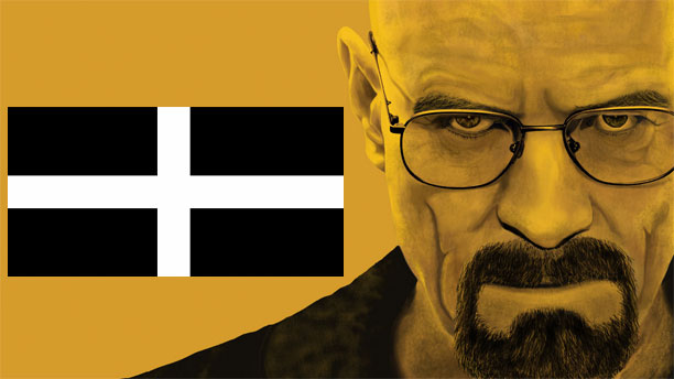 Breaking Bad with the Cornish flag of St Piran.