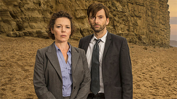 Olivia Colman and David Tennant in 'Broadchurch' (Pic: Kudos)