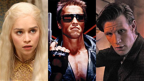 Emilia Clarke, Arnold Schwarzenegger and Matt Smith