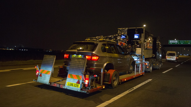 'Locke' - and loaded on to a flatbed (A 24)