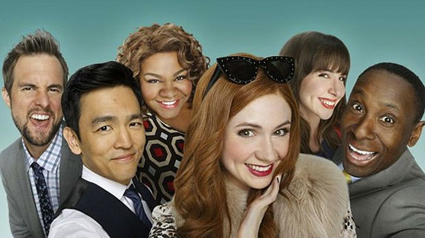 Karen Gillan, John Cho and co in 'Selfie' (Pic: ABC)