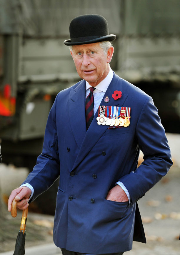 Prince Charles looks dignified in his bowler hat on Remembrance Day in 2011. (Michael Dunlea/AP)