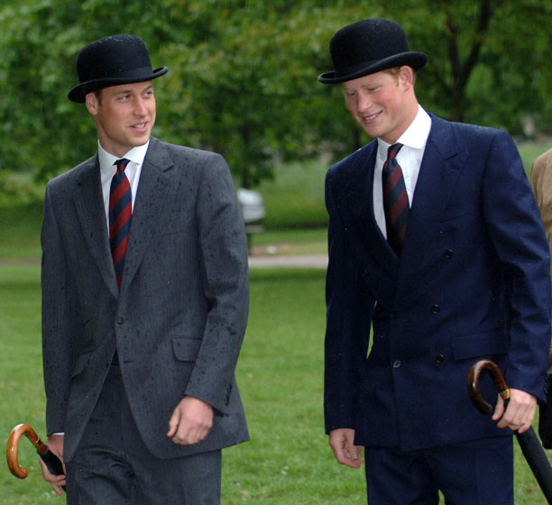 Another pair of hats, and a royal one at that! Prince William and Prince Harry are especially in sync on a 2007 spring day. (Stefan Rousseau/AP)