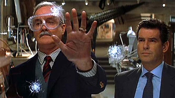 John Cleese and Pierce Brosnan in 'Die Another Day' (Pic: Eon)