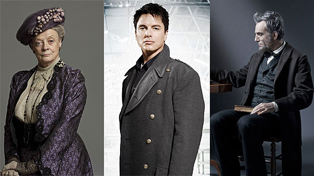 Dame Maggie Smith, John Barrowman (MBE) and Sir Daniel Day Lewis