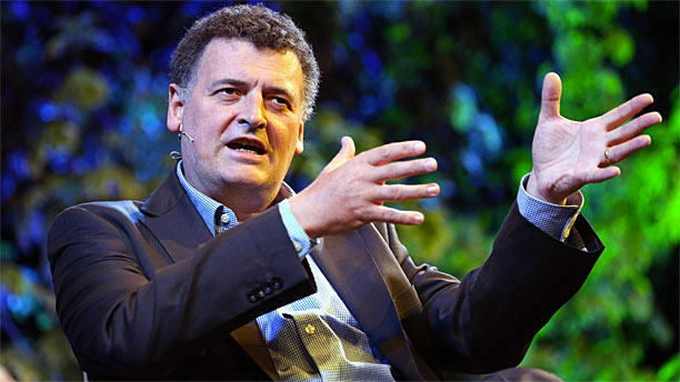 Steven Moffat at the Hay Festival (Rex Features via AP Images)
