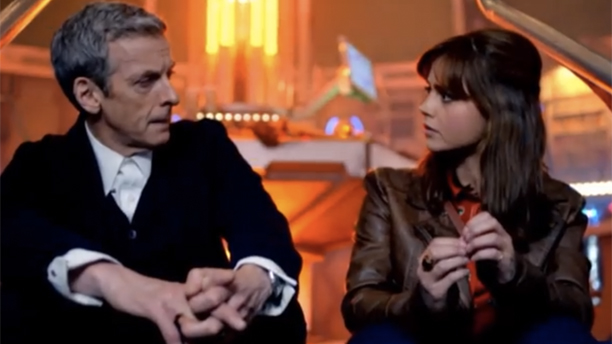 Peter Capaldi and Jenna Coleman. (YouTube)