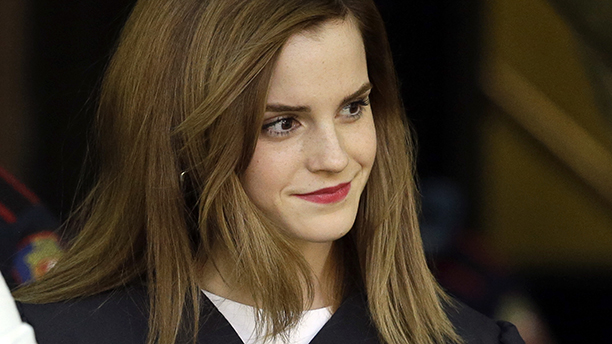Emma Watson is seen in her commencement gown following her graduation from Brown University. (AP Photo/Steven Senne)