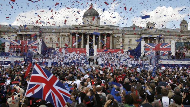 APTOPIX Britain Olympic Parade