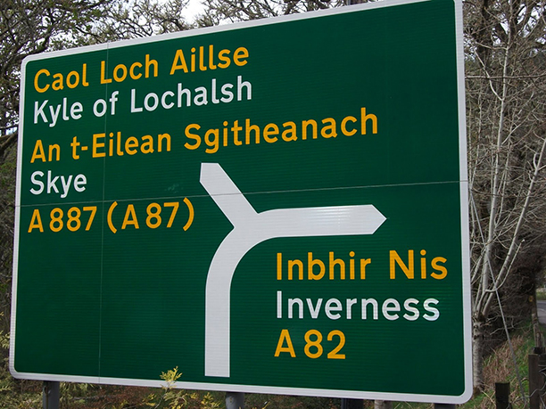 """Wouldn't it be nice if someone in the car actually could read Scottish?"" (Bletherskite)"
