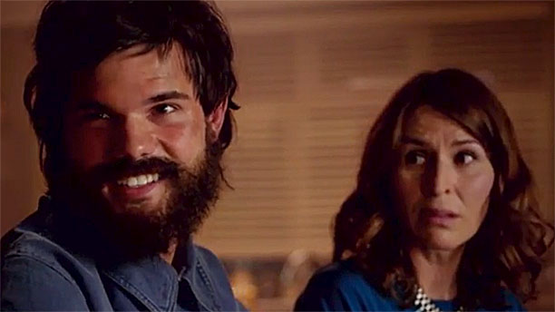 Taylor Lautner and Helen Baxendale in 'Cuckoo' (Pic: BBC)